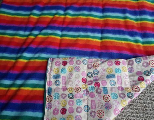 Rainbow paytterned Weighted Lap Pad